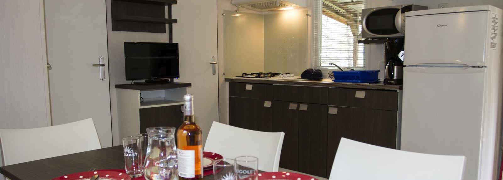 Mobil-home 1-6 pers 3 chambres