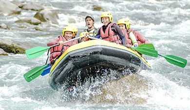 animations rafting camping fontarache