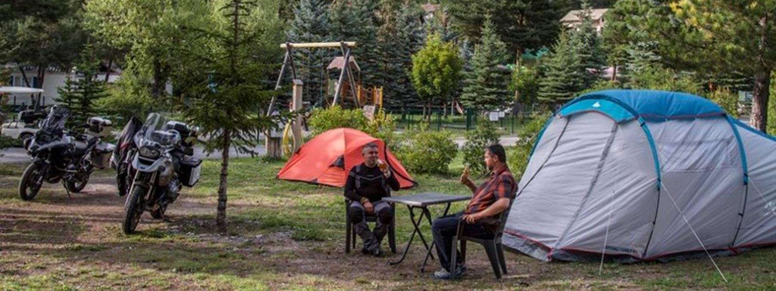 camping pour moto en provence